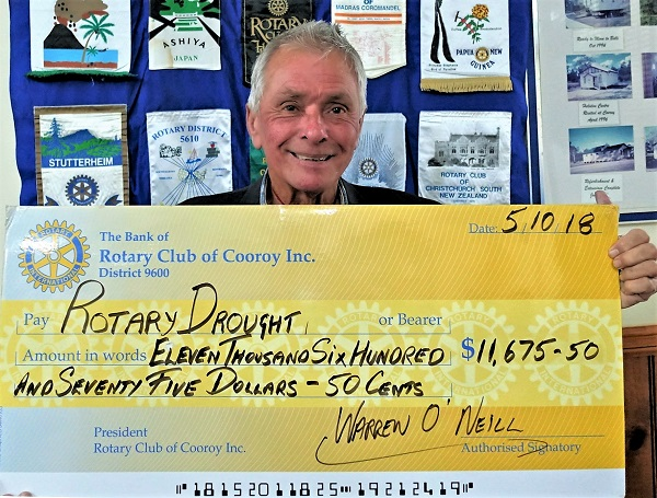 Rotary Drought Appeal Cheque presentation